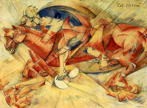 futurismo-il-cavaliere-rosso-1913-de-carlo-carra-museo-del-novecento-comune-di-milano