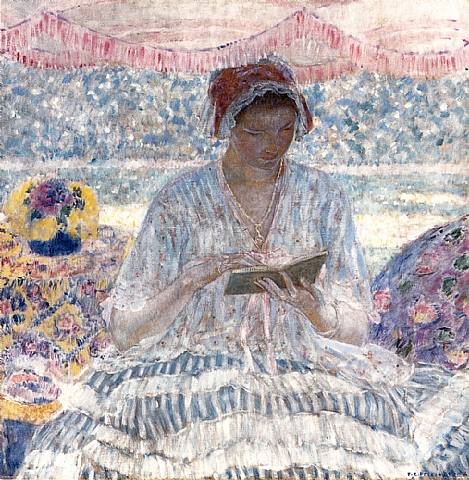 lectura-gdap-por-frederick-carl-frieseke-1916-artnet