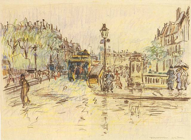 paris-los-bulevares-bajo-la-lluvia-por-rik-wouters-1912-artnet1