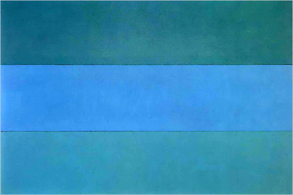 azul..-por Brice Marden.-1976.-foto Brice Marden.-Artiist Rights Society.-New York.- The New York Times