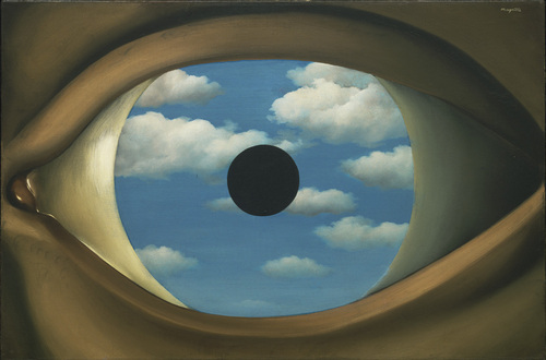 Magritte.-8.-The Plase Mirror.-1928.-MOMA.-