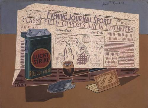 periodicos.-XXX.- Lucky Strike.-1924.-por Stuart Davis.-artnet