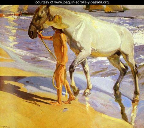 Sorolla.-F.-el baño del caballo.-joaquin sorolla y bastida.org