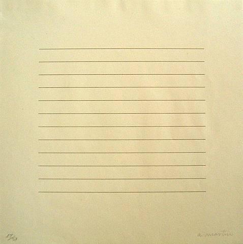 escribir.-1259.-por Agnes Martin.-1973.-Kornelia Tamm Fine Arts.-photografie.-artnet