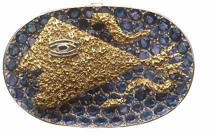 lujo.-J.-caja, alrededor de 1959.-em oro.-Jean Schulumberger.-Les Arts Décoratifs.-