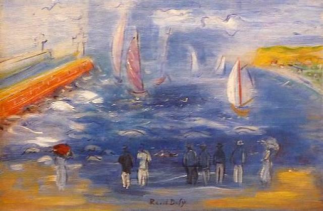 mar.-regatas.-Raoul Dufy.-1950.-Kunsthandel Frans Jacobs.-sphtografie.-artnet