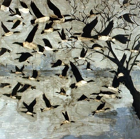 pájaros.-KKGGK.-por Donald Sultan.-1997.-artnet