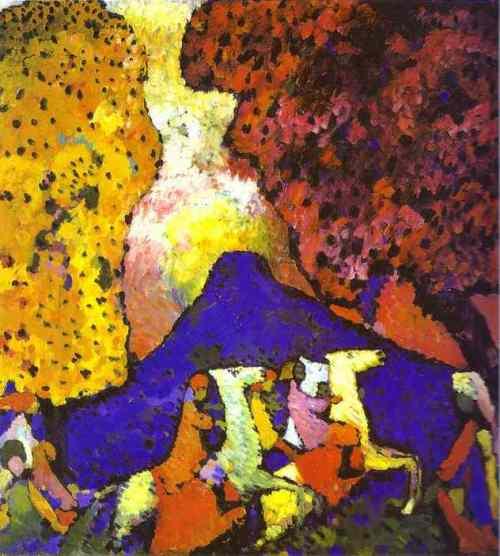 pintores.-989nbm.-Kandinsky.-La montaña azul.-1908.-Museum Syindicate