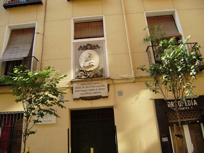 calle de Cervantes.-A.-placa sobre Cervantes.-10-8-2009