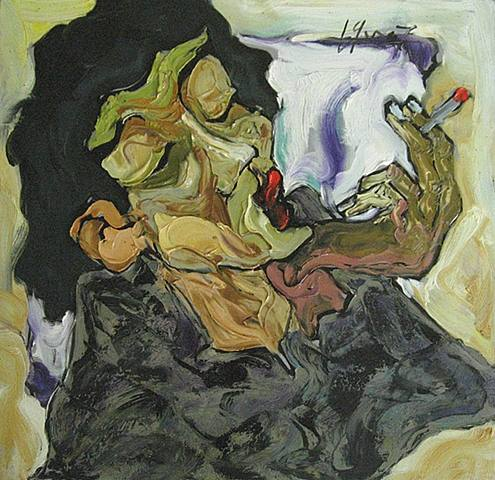 fumar.-ABC.-por La Ba Quan.-2007.-Vietnamese Contemporary Fine Art.-New York.-Tel Aviv.-artnet