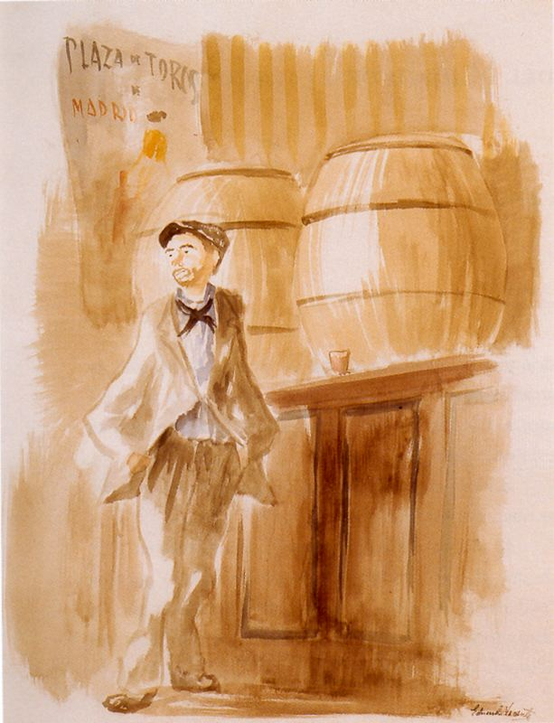 Madrid.-ÑÑ.-tomando un trago.-por Eduardo Vicente,.Ciudad de la pintura