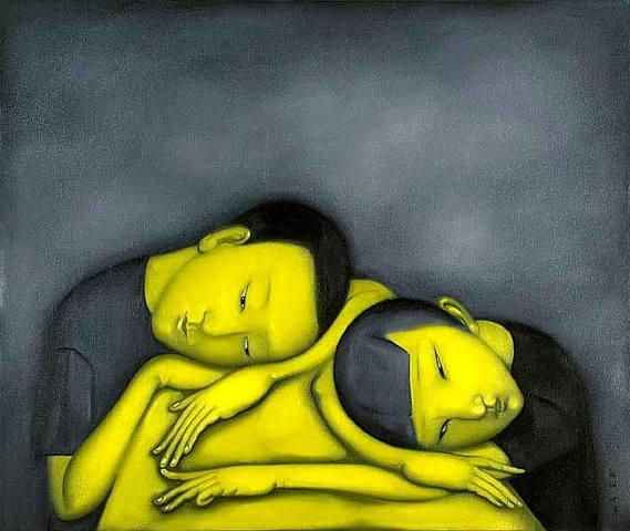 niños.-sueño.-ZZ66.-por He Zubin.-2007.-Art Space.-Virginia Miller Galleries.-Coral Gables, Miami, USA.-artnet