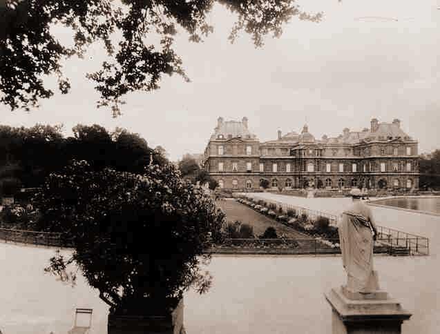 París.-2.-Jardin du Luxembourg.-1923.-por Eugene Atget