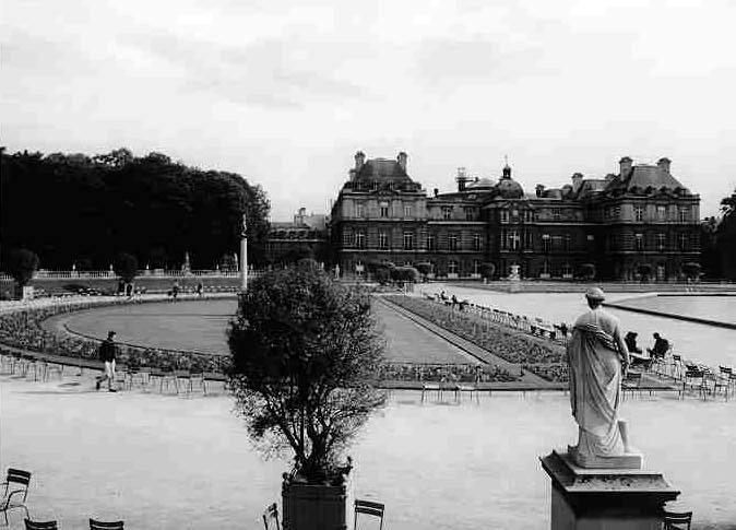 París.-3.-Jardín de Luxembourg 1900.-Atget Rephotographic Projet