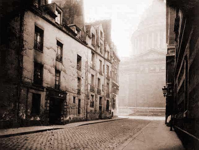 París.-4.-El Paneón y la rue Valette.-1925.-por Eugene Atget