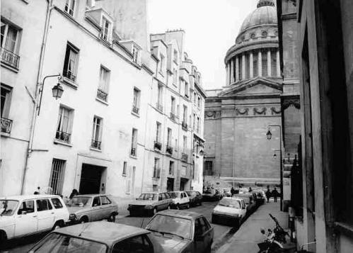 París.-5.-El Panteón y la rue Valette 1992.-Atget Rephotographic Project