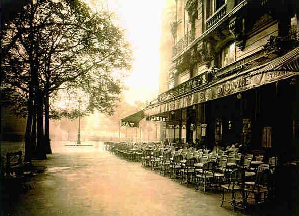 París.-A.-Le Dome.-Boulevard Montparnasse, junio 1925.-por Eugene Atget