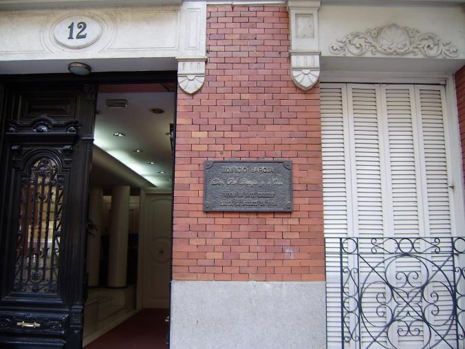 Ruiz de Alarcón 12.-casa de Pío Baroja. hasta 1956.-17-8-2009