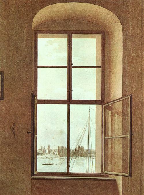 FRIEDRICH.-XVX.-ventana desde el estudio del pintor.-1805-06.-Art History Museum.-Viena