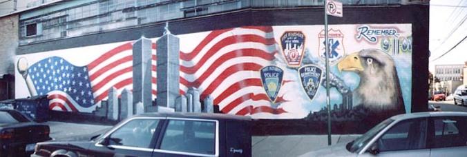 graffiti.-BB.-Art Crimes.-September 11.-Murals.-Remember 9-11-01-by Phymeone Wallmuts Crew 2001.-in L I C.-Queens.-graffiti.org