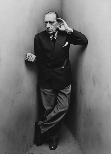 Irving PENN.-CC.-Stravinsky.-New York 1948.-foto Irving Penn.- Conde Nast Publications.-The New York Times