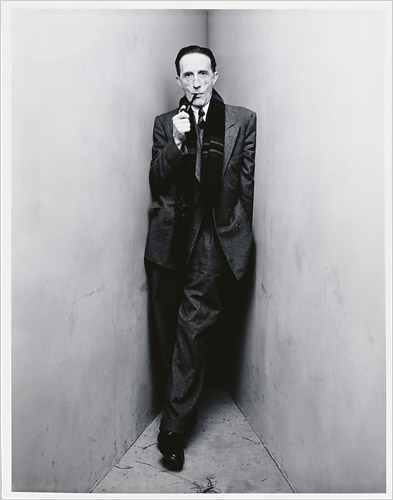 IRVING PENN.-GG.-Marcel Duchamp..New York 1948.-foto Irving Penn.-Morgan Library Musem.-The New York Times