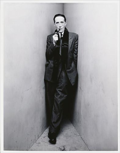 IRVING PENN.-GG.-Marcel Duchamp..New York 1948.-foto Irving Penn.-Morgan Library Musem.-The New York Times