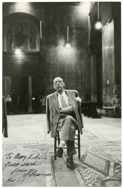 Stravinsky.-TTRT.-foto dedicada con autógrafo.-Thomas Oboe Lee.-