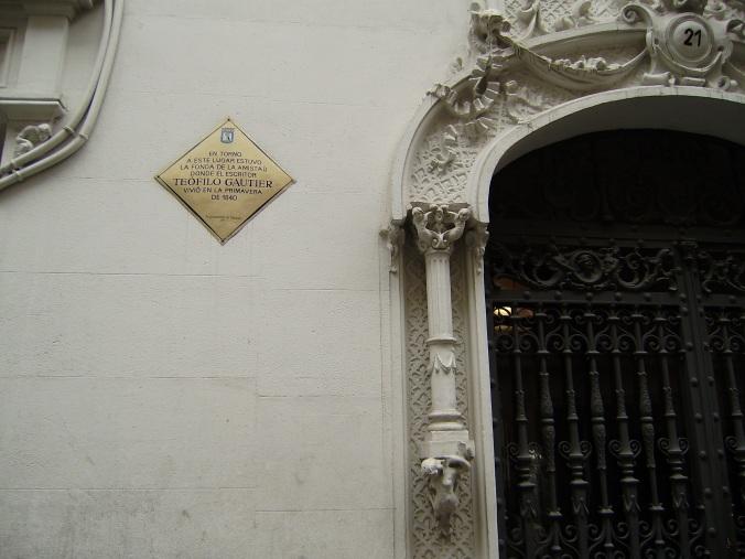 casa donde vivió Gautier.-Caballero de Gracia detras´de la Gran Vía.-2