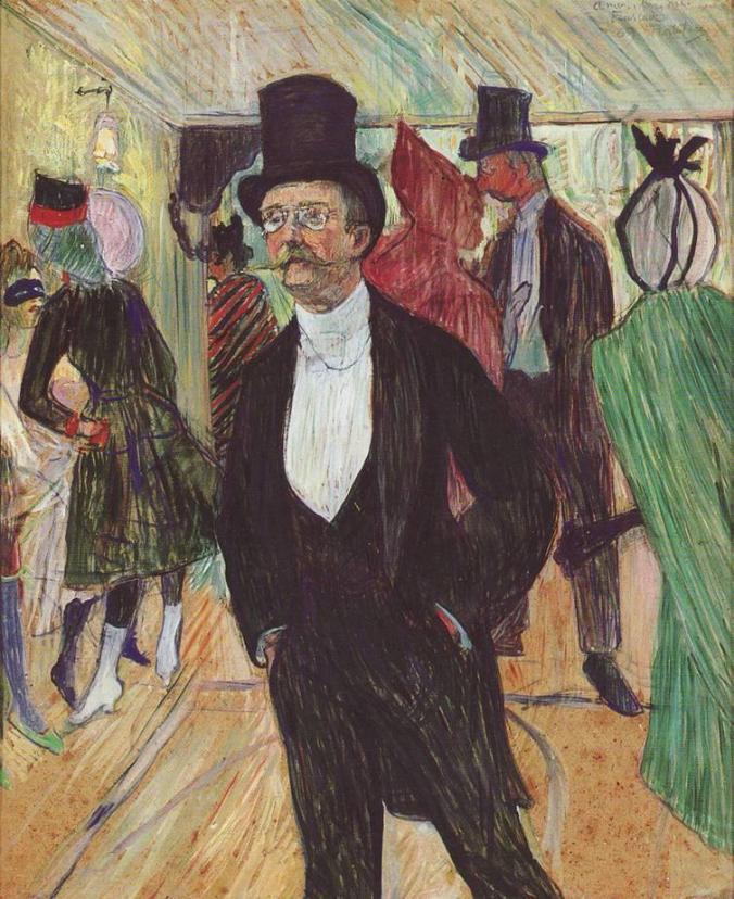retratos.-GG.-Toulouse-Lautrec.-retrato del señor de Fourcade.-1889.-Fundación Mapfre.-