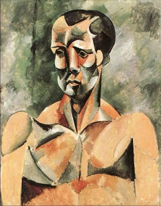 retratos.-JJ.-Picasso.-Busto de hombre.-el atleta.-1909.-Fundación Mapfre