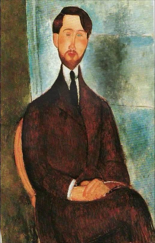 retratos.-LL.-Modigliani.-Retrato de Leopoldo Zborowski.-1916-1919.-Fundación Mapfre