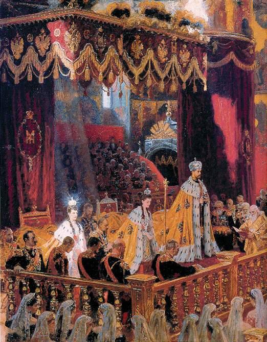 RUSIA.-8.-Coronacion de Nicolás Segundo y Alexandra Fyodovna.-por Laurtis Tuxen.-1895.-Museo Hermitage
