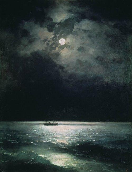 en el silencio negro de la noche: