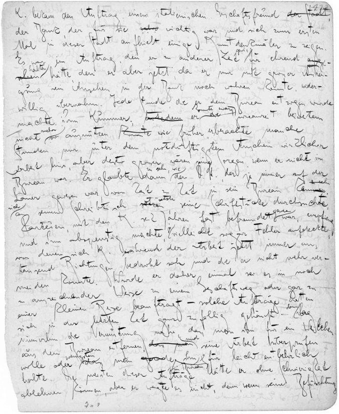 escritores--5gcc.-manuscrito de El Proceso de Kafka