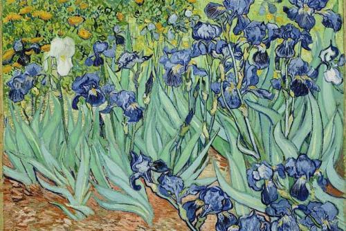estaciones.-854,.primavera.-los lirios.-Van Gogh