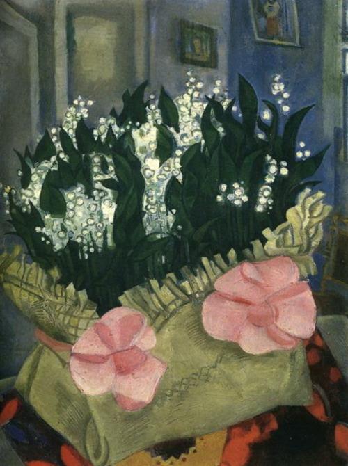 flores.-88mm.-Marc Chagall.--lirios de los valles..-1916.- Rusia- Galería Estatal Treyakov.-Moscú