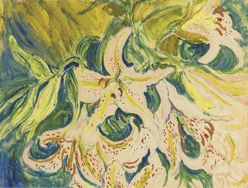 flores.-ttggb.-lirios.-Sir Jacob Epstein.-1880-1978