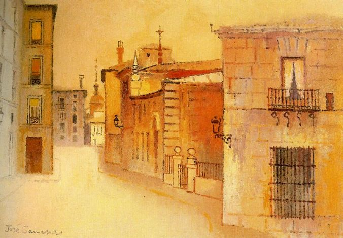 Madrid.- calle del Sacramento.- José Sancha.- pintura.aut.org