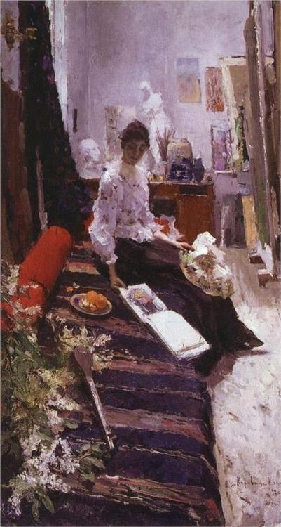 pintores.- uurrb,. talleres.- Konstantin Korovin.- 1892