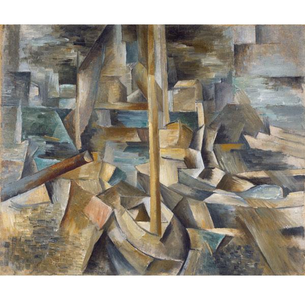 Braque-bnnm-Guitarra- mil novecientos doce- colección particular Georges Braque- foto Leiris SAS- VEGAP- Bilbao dos mil catorce