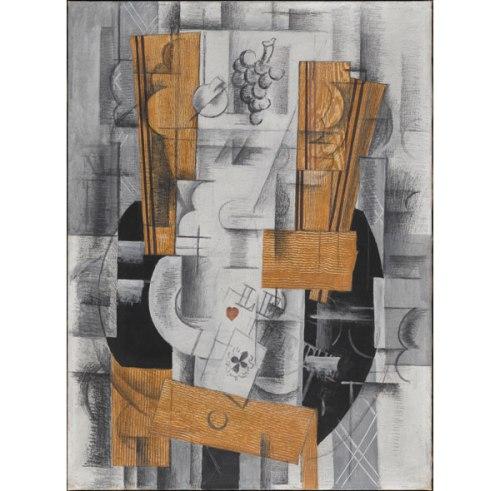 Braque-bute- frutero y cartas- mil novecientos trece- Centro Pompidou- foto Georges Meguerditchi- VEGAP- Bilbao