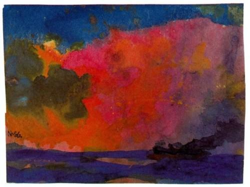 mar.-55gg.-Emil Nolde.-mar con cielo de colores