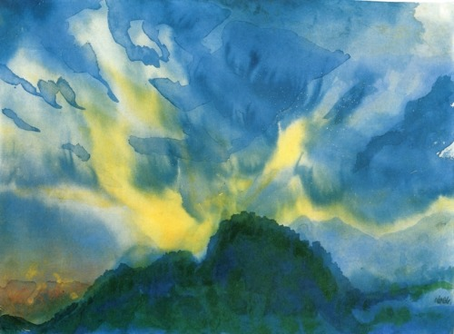 cielo-ubbnn-montañas- Emil Nolde