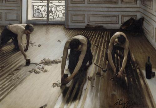 arte.-23ss.-cepillando el parquet.-Gustave Caillebotte.-1875.-Mueso D`Orsay