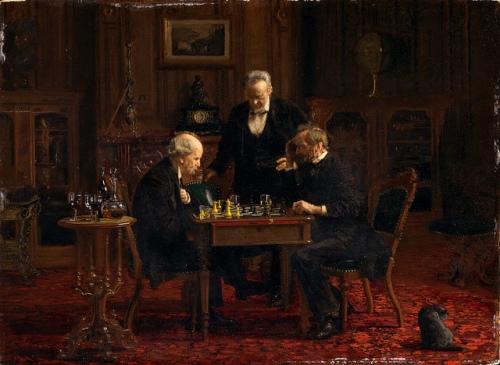 juegos.-rtggb.-ajedrez.-Thomas Eakins.-1876