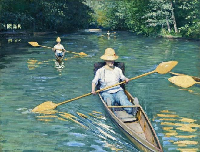 Caillebotte- piraguas en el río Yerres-mil ochocientos setenta y siete- el pais